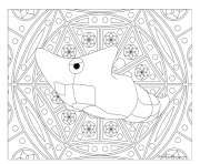 pokemon mandala adulte Metapod dessin à colorier