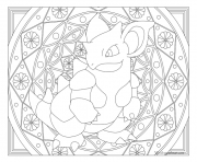 Adulte Pokemon Mandala Nidoqueen dessin à colorier