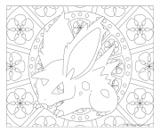Coloriage Adulte Pokemon Mandala Nidoran Mal