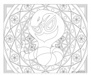 Coloriage Adulte Pokemon Mandala Arbok