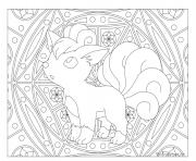 Adulte Pokemon Mandala Vulpix dessin à colorier