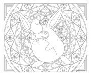 Coloriage Adulte Pokemon Mandala Wigglytuff