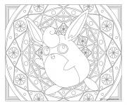 Adulte Pokemon Mandala Wigglytuff dessin à colorier
