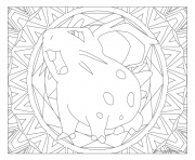 Adulte Pokemon Mandala Nidoran Fem dessin à colorier