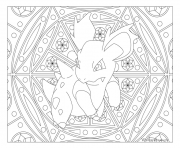 Coloriage Adulte Pokemon Mandala Nidorina