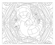 Adulte Pokemon Mandala Sandshrew dessin à colorier