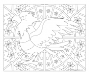 Coloriage Adulte Pokemon Mandala Spearow