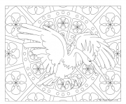 Coloriage Adulte Pokemon Mandala Fearow