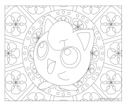 Coloriage Adulte Pokemon Mandala Jigglypuff