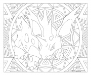 Coloriage Adulte Pokemon Mandala Nidorano