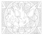Adulte Pokemon Mandala Nidorano dessin à colorier