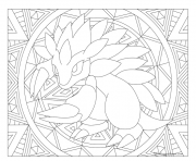 Adulte Pokemon Mandala Sandslash dessin à colorier