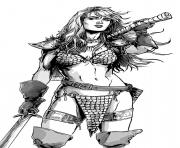 Coloriage red sonja amie de xena par mark laming