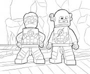 Coloriage flash super heros lego