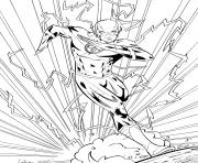 Coloriage flash super heros en mode electrique