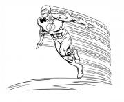 Coloriage super heros flash en vitesse