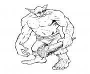 Coloriage grand ogre
