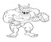 Coloriage geant ogre mechant