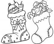 hugo lescargot noel bas de noel dessin à colorier
