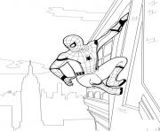 Coloriage spider man homecoming