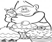trolls movie cupecake dessin à colorier