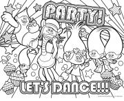 party lets dance dessin à colorier