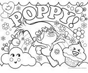 trolls poppy dreamworks dessin à colorier