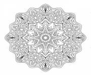 Coloriage mandala adulte abstrait art therapie