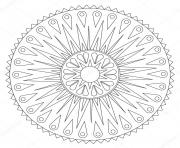 Coloriage mandala geometric rays ornament