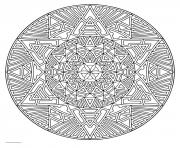 Coloriage mandala pour adulte art therapie