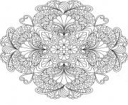 Coloriage flowers mandala