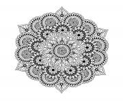 Coloriage mandala complexe difficile pour adulte art therapie