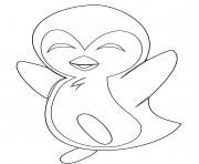pingouin heureux dessin à colorier
