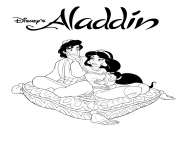 Coloriage disney Aladdin