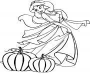 Jasmine Princesse Halloween dessin à colorier