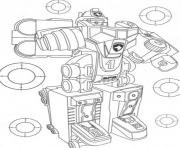 Coloriage awesome power ranger robot