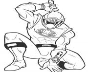 Coloriage power ranger samurai ninja
