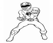 Coloriage power rangers jungle fury karate