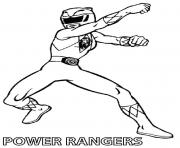 Coloriage yellow power rangers