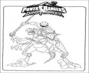 Coloriage power rangers s dino thunder