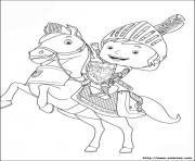 Coloriage chevaliers hd dessin