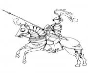 Coloriage chevaliers hd