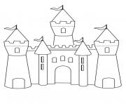 Coloriage chateau fort maternelle simple