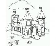 superbe chateau complet dessin à colorier