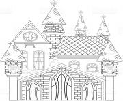 Coloriage chateau de princesse