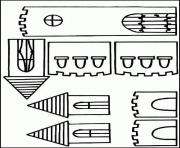 chateau a imprimer 3d collage bricolage dessin à colorier