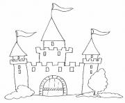 Coloriage chateau facile