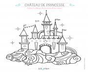 le chateau de princesse dessin à colorier