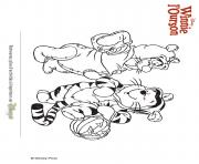 winnie ourson tigrou dessin à colorier