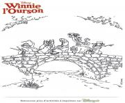 winnie ourson et ses amis la recherche du miel dessin à colorier